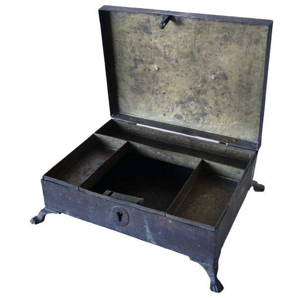 Anglo Indian Regency Metal Desk Box