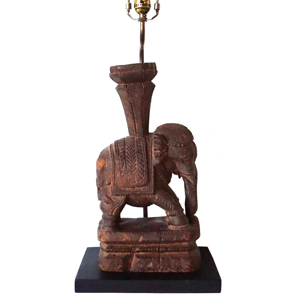 Antique indian rosewood elephant model as a table lamp eron indian rosewood elephant model as a table lamp geotapseo Gallery