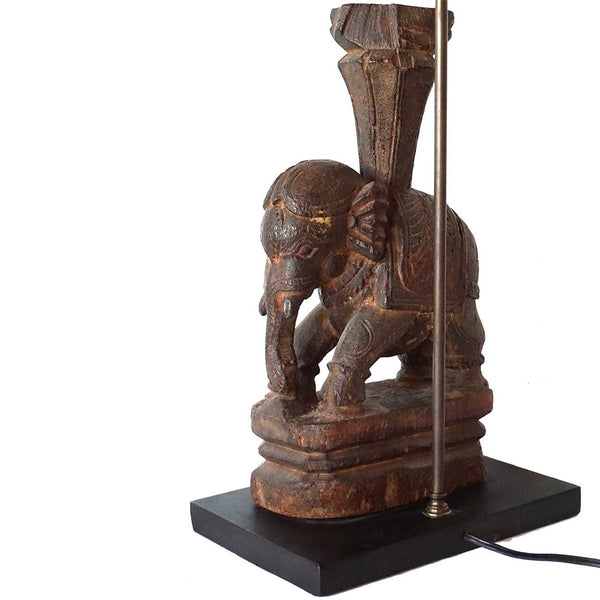 Indian Rosewood Elephant Model as a Table Lamp