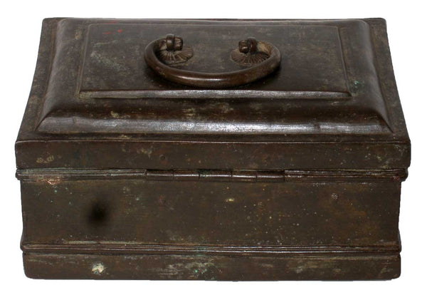 Anglo Indian Brass Tea Caddy or Spice Box
