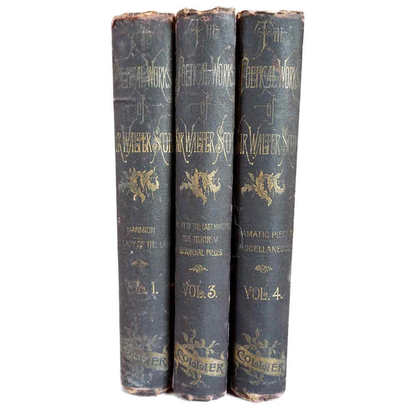 Set of Three Books: The Poetical Works of Sir Walter Scott