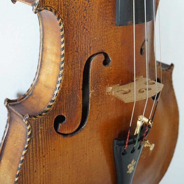 German Marcus Stainer Style Inlaid Full Size Violin