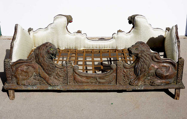 Indian Lucknow Repousse Copper Royal Howdah Elephant Seat