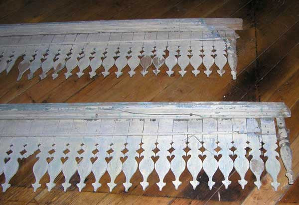 Pair of Anglo Indian Painted Teak Porch Decorative Trim Panels
