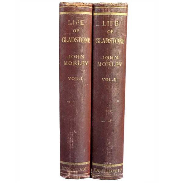 Set of Two Books: Life of William Ewart Gladstone by John Morley