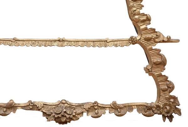 Danish Rococo Revival Giltwood Triangular Hanging Shelf