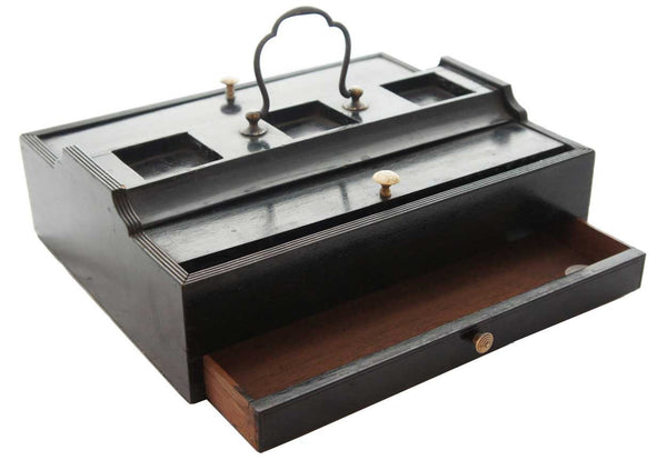 English Regency Chatsworth House Ebonized Inkstand