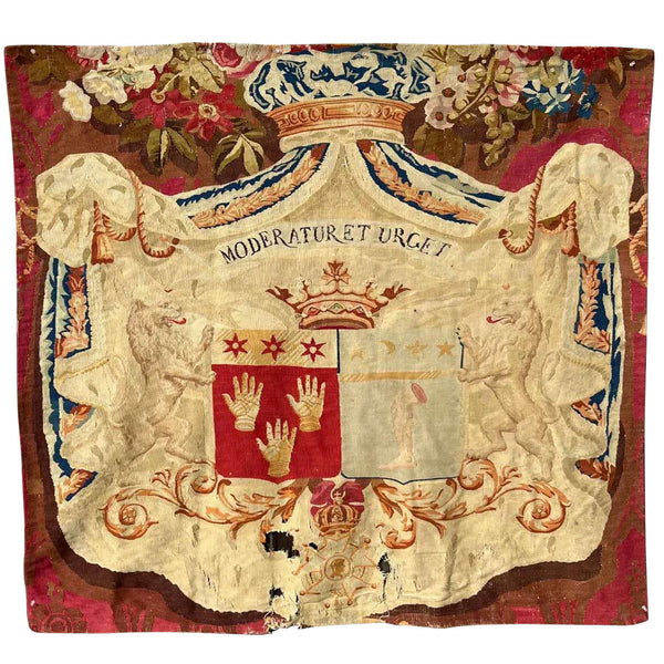 French Louis Philippe Chatsworth House Armorial Tapestry Panel