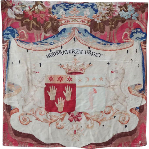 French Chatsworth House Louis Philippe Armorial Tapestry Panel