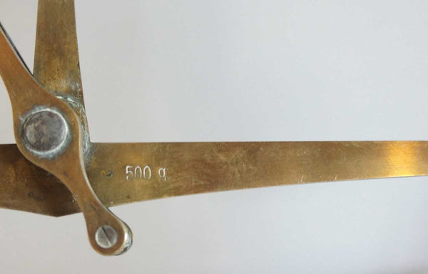 Danish Arbo-Bahr Brass and Horn Pharmacy Balance Scale