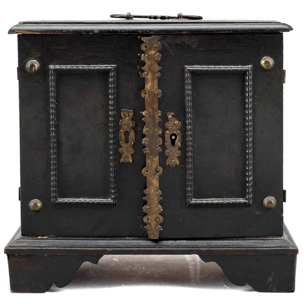 Dutch Ebonized Pine Miniature Table-Top Cabinet