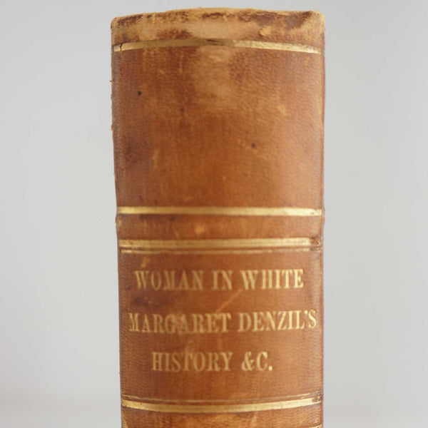 Victorian Leather Bound Book: Woman in White by William Wilkie Collins