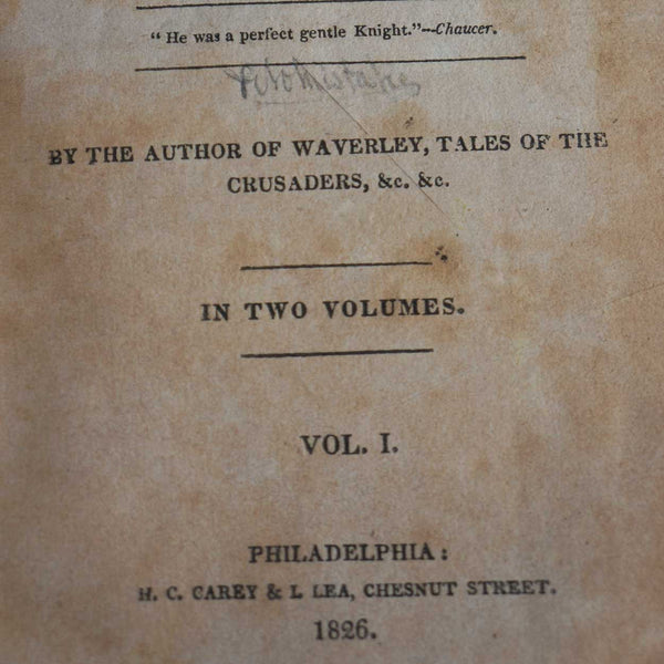 Book: The Cavalier by George Washington Cable, Vol. I
