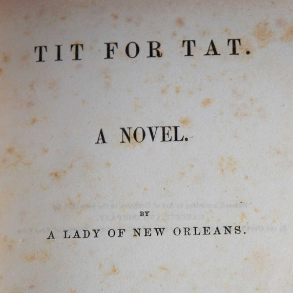 Book: Tit for Tat by a Lady of New Orleans