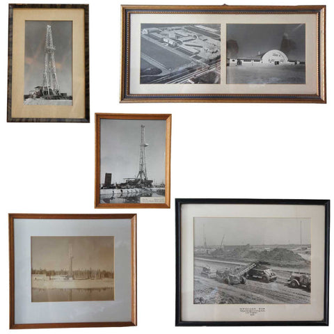 Five Vintage Framed Amercan Black and White Photographs