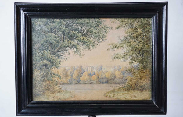 Rare Danish ANDREAS JUUEL for Bing & Grondahl Watercolor and Porcelain Candle Screen