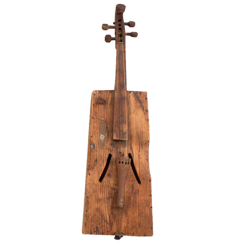 American Pine and Cherry Folk Art Fiddle