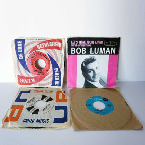 Collection of 4 Vintage Vinyl Records 45 RPM