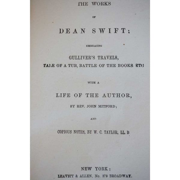 Book: The Works of Dean Swift by Reverend John Mitford