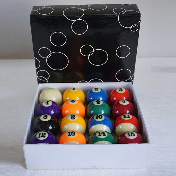 Boxed Set of 16 Standard Billiard Pool Balls