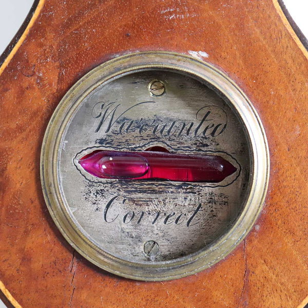 English Georgian Mahogany Veneer Inlaid Five-Dial Banjo/Wheel Barometer