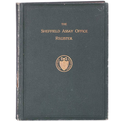 Book: The Sheffield Assay Office Register by Bernard William Watson