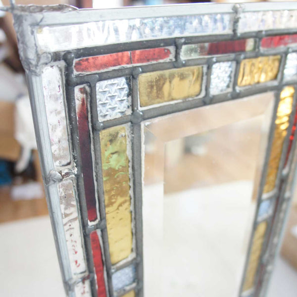 English Victorian Stained, Leaded and Beveled Glass Window