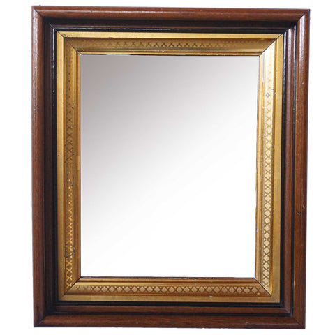 Small American Victorian Parcel Gilt Walnut Mirror