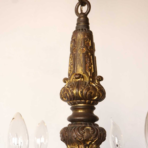French Louis XIII Style Bronze Chandelier