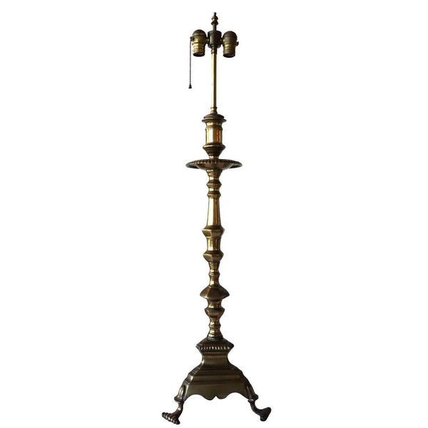Baroque Style Bronze Candlestick as a Table Lamp