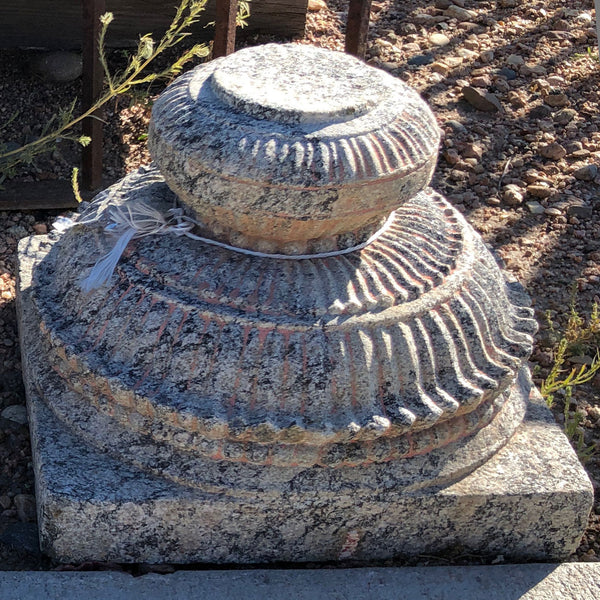 Pair of Early South Indian Granite Pillar Bases