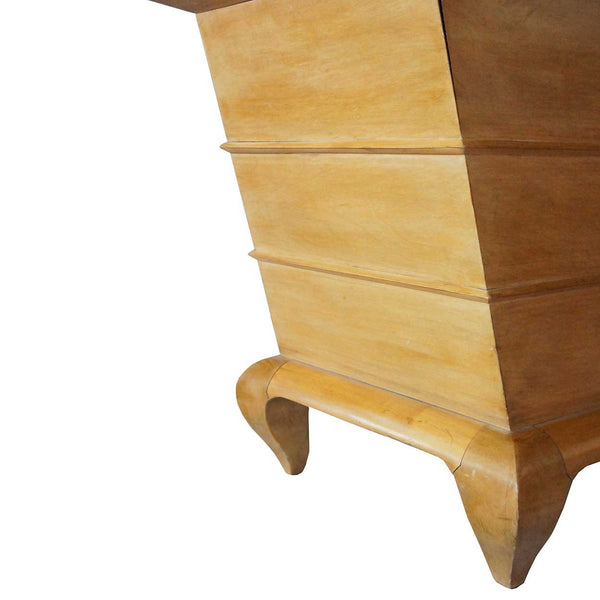 French Modernist Pearwood Low Cocktail Table