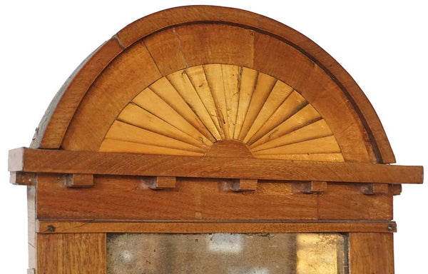 Small Swedish Empire Mahogany Parquetry Arched Mirror