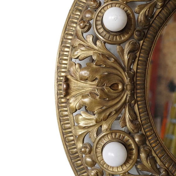 American Brass Ceiling Medallion Mirror