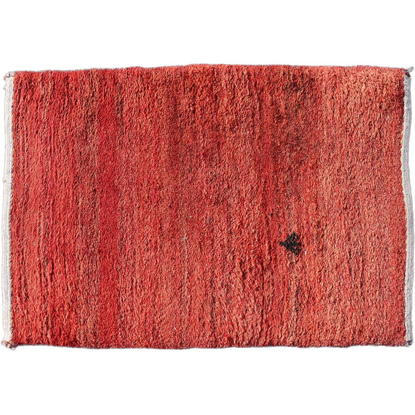 Small Chinese Red and Black Wool Rug