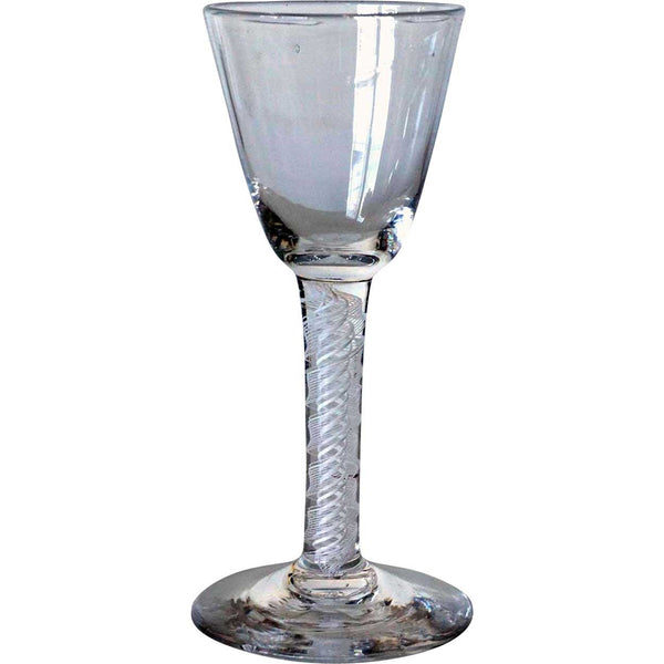 Early Continental Double-Series Cotton Twist Stem Wine Glass