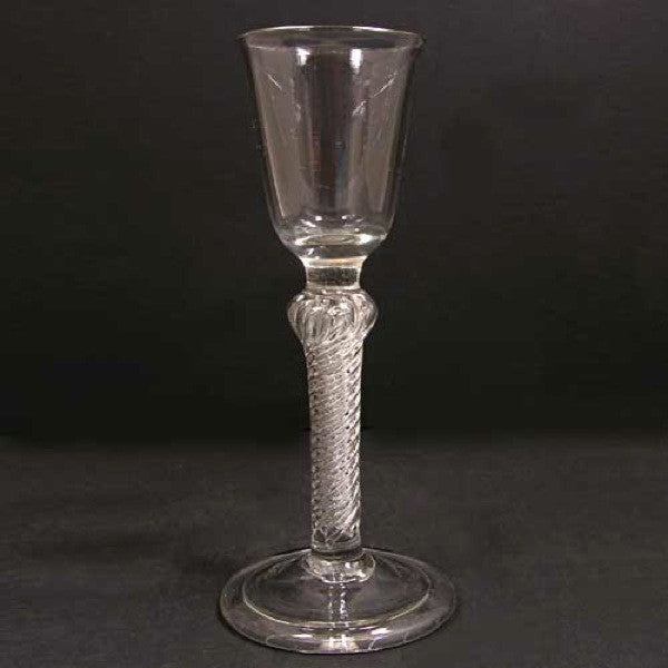 Early Single-Series Air Twist Stem Wine Glass