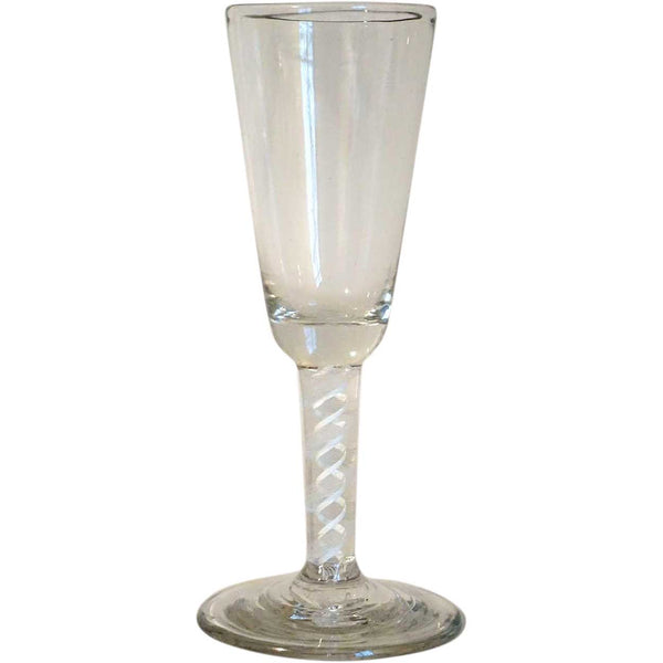 Early Double-Series Opaque Cotton Twist Stem Ale Glass