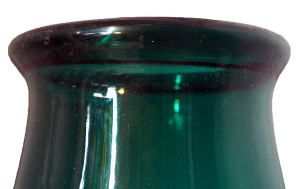 Large English George III Bristol Green Glass Hurricane Shade