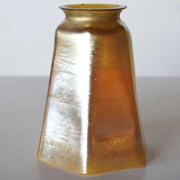 American Tiffany Studios Gold Favrile Glass Lamp Shade
