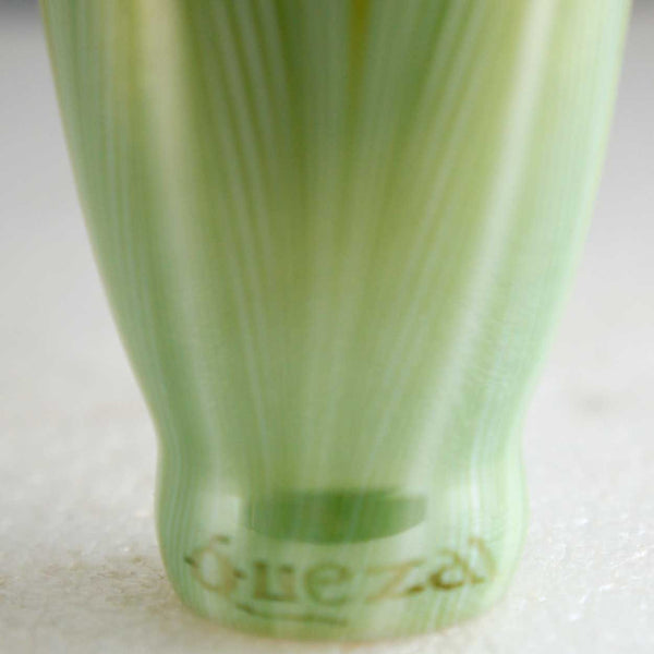 American Quezal Glass Green Pulled Feather Lily Lamp Shade
