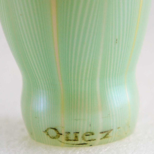 American Quezal Art Glass Pulled Feather Lamp Shade