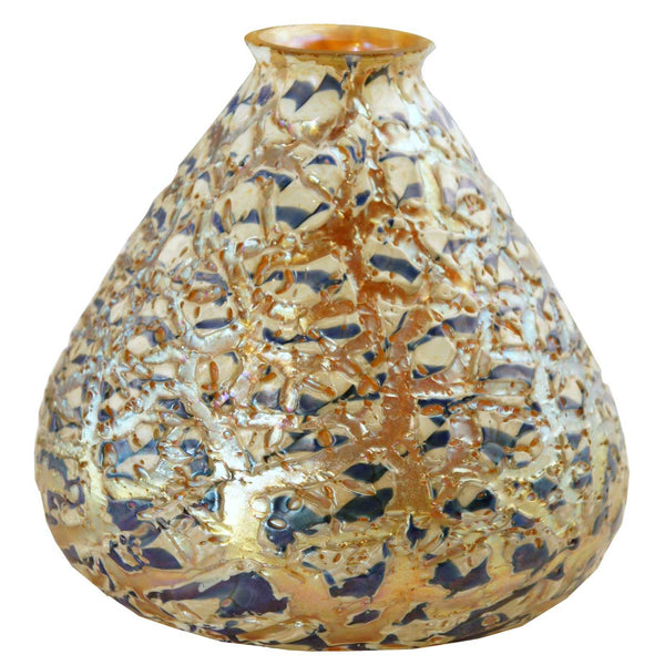 Large American Durand Art Glass Moorish Crackle Floor Lamp Shade