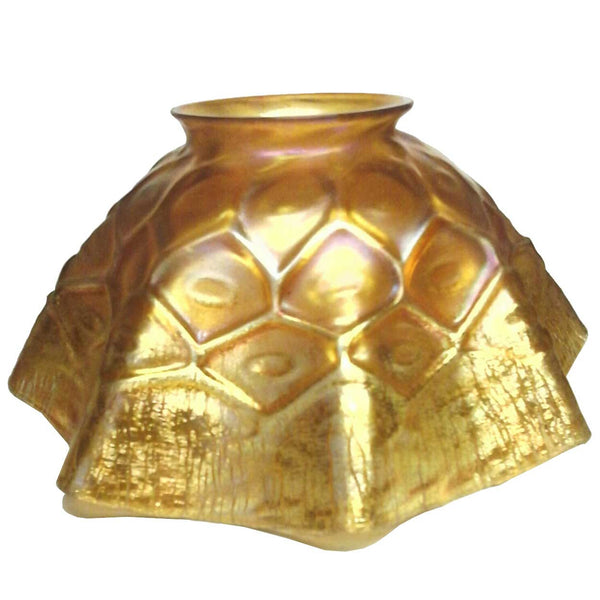 American Tiffany Studios Irisdescent Gold Glass Shade