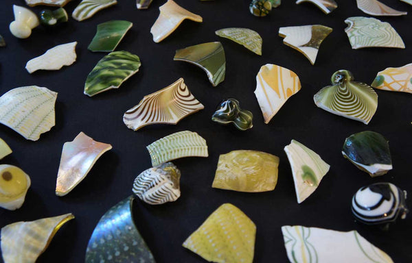 Collection of American Fostoria Art Glass Shards