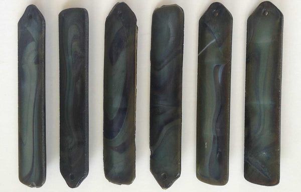 Set of 12 American Tiffany Studios Marbleized Favrile Glass Prisms