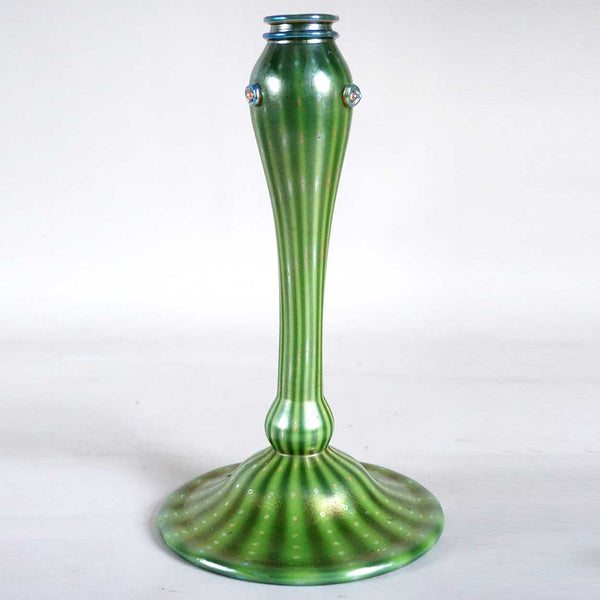 American Tiffany Studios Green Favrile Glass Arabian Table Lamp Base