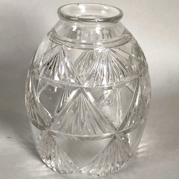 Continental Clear Cut Glass Diamond Fan Pattern Lamp Shade
