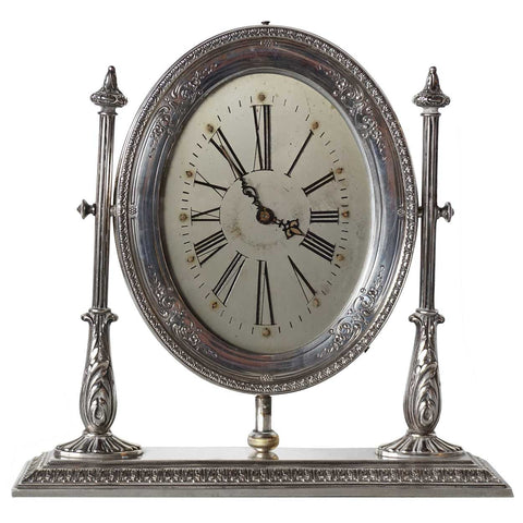 American Reed and Barton Sterling Silver Waltham Movement Desk Clock