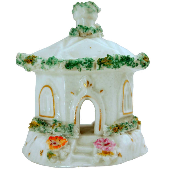 English Staffordshire Porcelain Cottage Pastille Burner